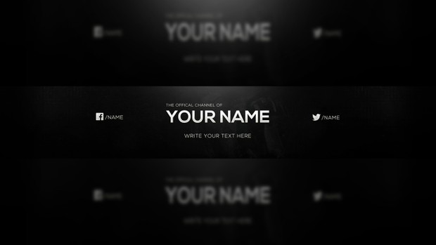 simple youtube banner template for free