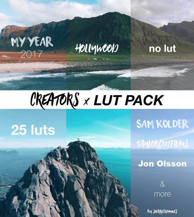 YouTube Creators  x  LUT PACK // Pro Color Grading 2018 - 25 LUTS