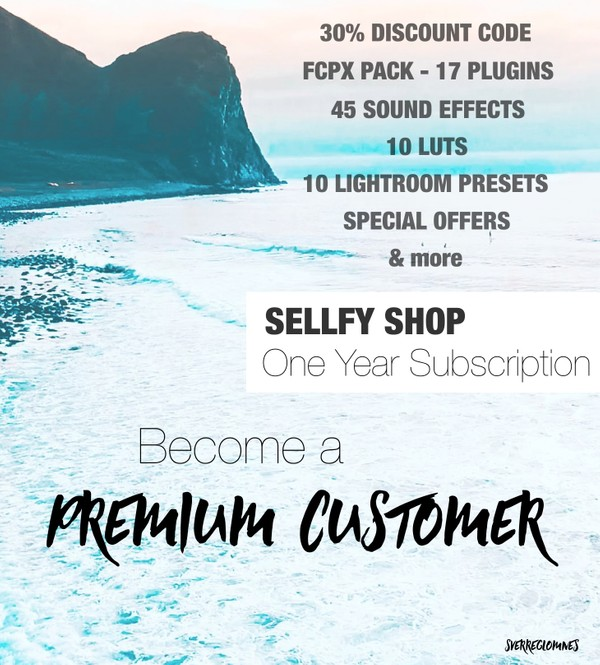 PREMIUM CUSTOMER - One Year Subscription // SverreGlomnes Sellfy Shop