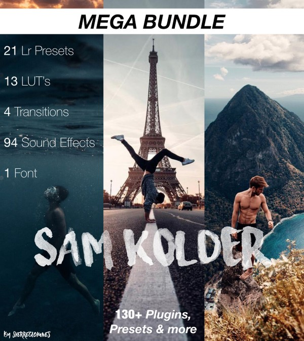 Sam Kolder Mega Bundle Pack // 130+ Plugins, Presets & more