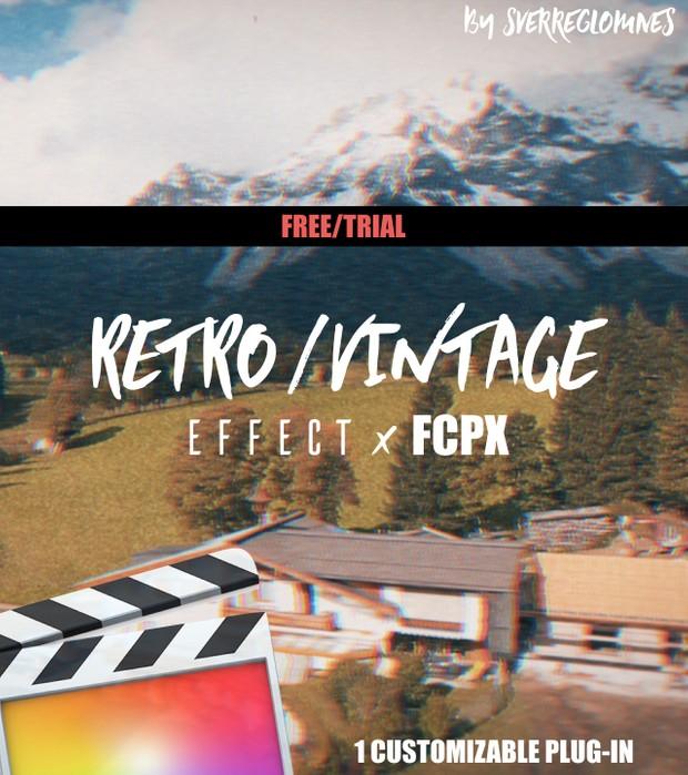 1 RETRO/VINTAGE Film Look Effect (Custom) [FREE/TRIAL