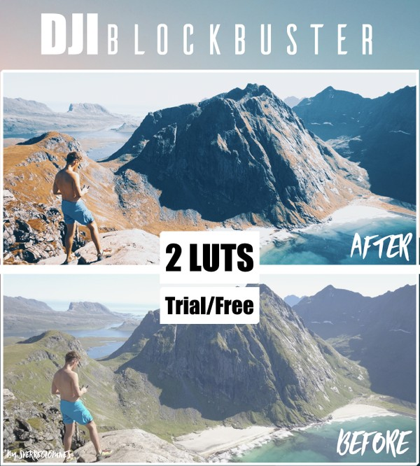 [Free/Trial] DJI Blockbuster Color Grading // Drone Lut Pack
