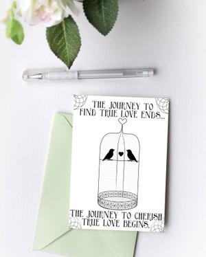 Journey to Find Love Birdcage Blank Card