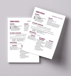 Simple Artists/Creative Resume