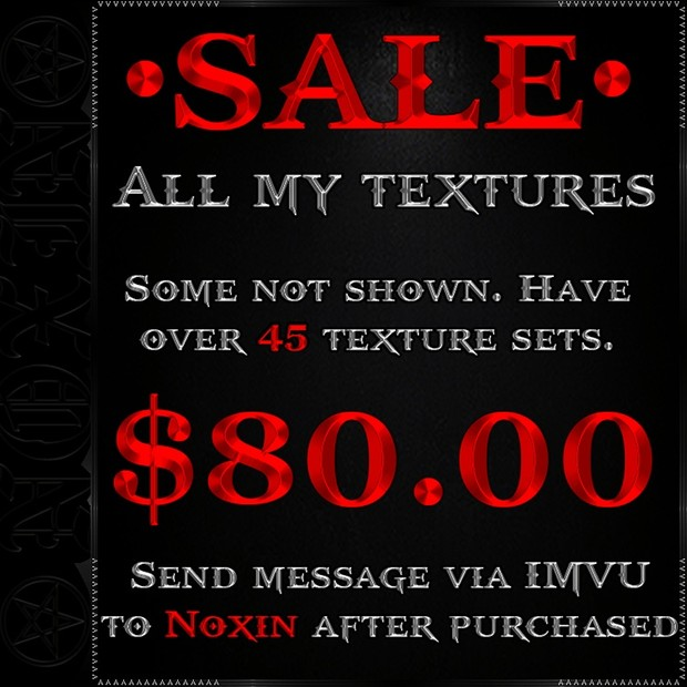 SALE ON ALL MY TEXTURES!!