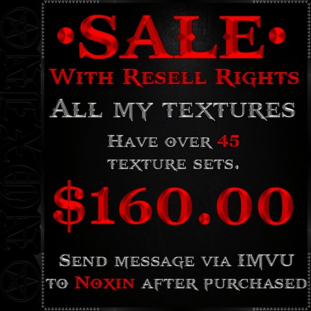 SALE ON ALL MY TEXTURES WITH RESELL RIGHTS