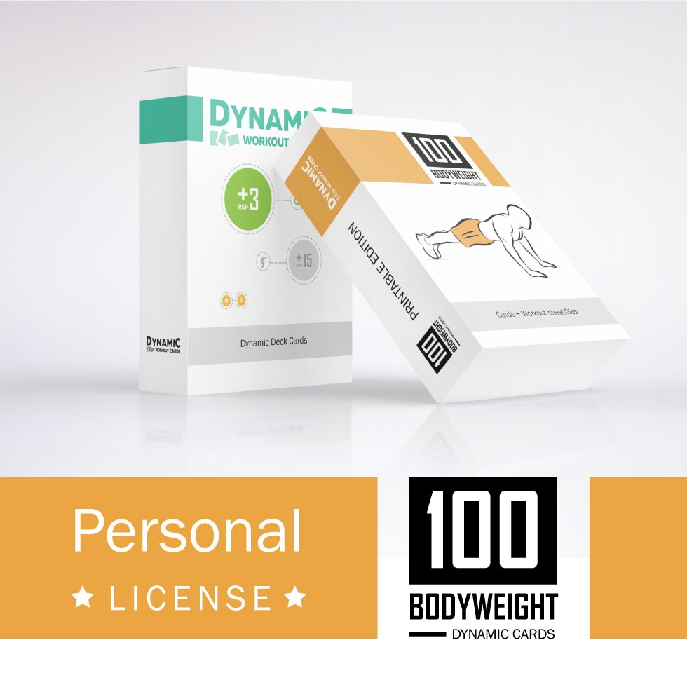 image about Printable Workout Cards named 100 Weight Playing cards + DW Playing cards / Person License - PDF