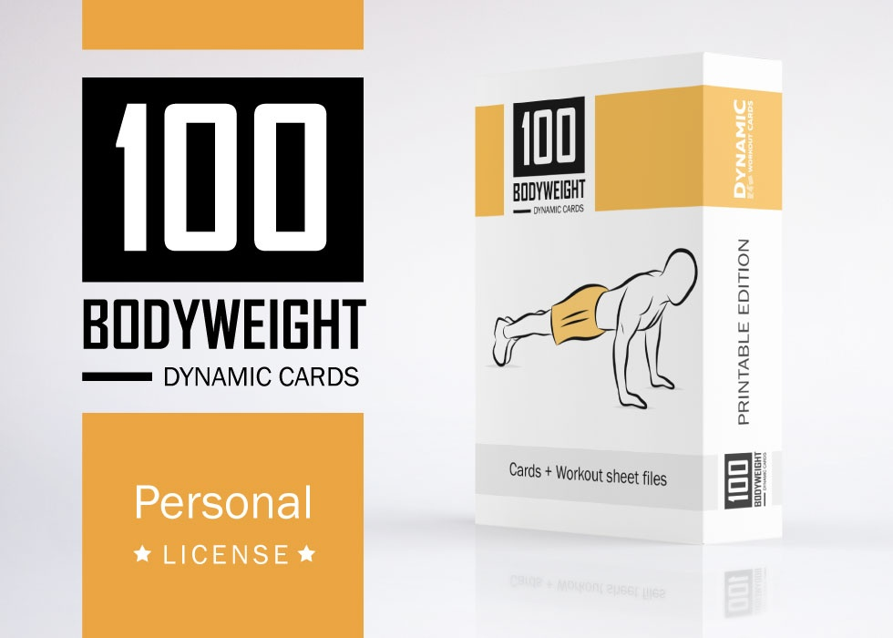 image relating to Printable Workout Cards known as 100 Body weight Playing cards / PDF