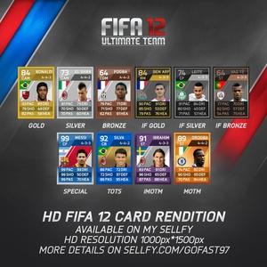HD FIFA 12 All Card Rendition Full Editable!
