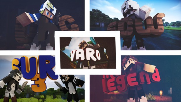 Minecraft [5er] PACK Thumbnails | designed (By LOG)