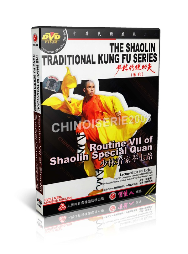 DW110-11 ShaoLin Traditional Kungfu Routine VII of Shaolin Special Quan by Shi Dejun MP4