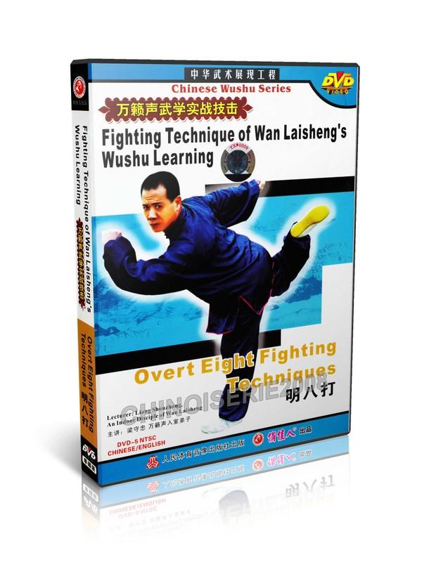 DW115-02 Wan Laisheng's Wushu Kungfu Overt 8 Fighting Techniques by Liang Shouzhong MP4