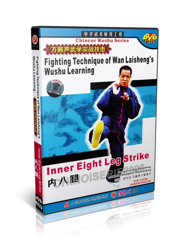 DW115-05 Wan Laisheng Wushu Kungfu Learning Inner 8 Leg Techniques by Liang Shouzhong MP4