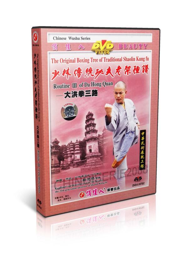 DW081-08 Traditional Shaolin Kungfu Series Routine III of Da Hong Quan by Shi deyang MP4