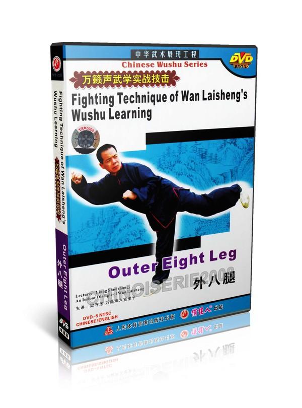 DW115-06 Wan Laisheng Wushu Kungfu Learning Outer 8 Leg Techniques by Liang Shouzhong MP4