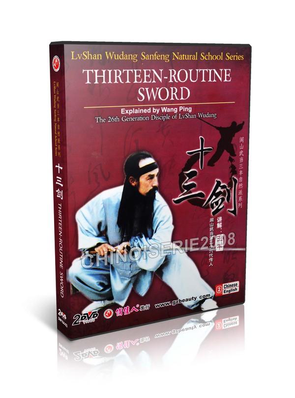 DW164-03 Lvshan Kungfu Wudang Bagua Thirteen routine Sword Part I, II by Wang Ping MP4