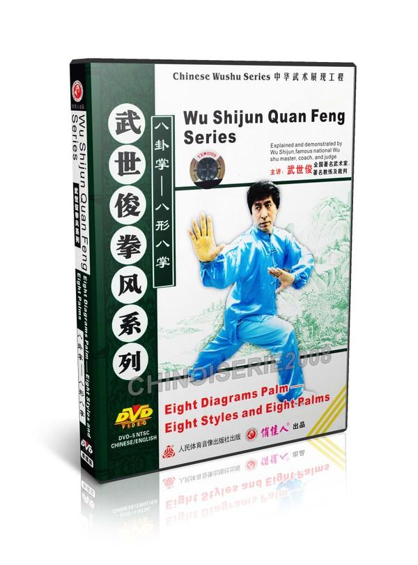 DW118-07 Chinese Kungfu Bagua Zhang 8 Diagrams Palm - 8 Styles & 8 Palms by Wu Shijun MP4