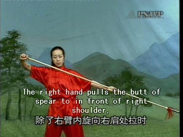 DW073-06 Chinese Kungfu Juvenile Wushu Weapons Series - Spear Play by Zhang  Lihui MP4
