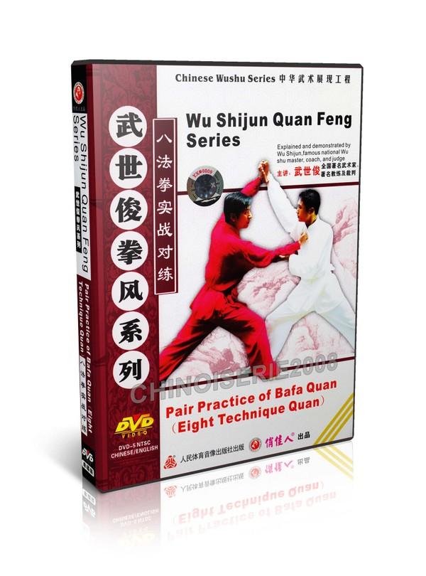 DW118-06 Chinese Kungfu Pair Practice of Bafa Quan Eight Technique Quan by Wu Shijun MP4