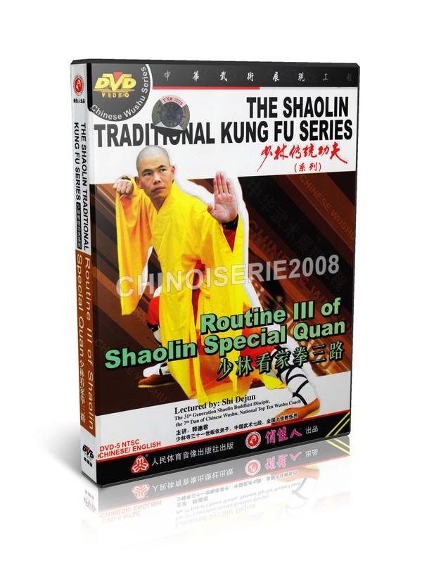 DW110-09 ShaoLin Traditional Kungfu Routine III of Shaolin Special Quan by Shi Dejun MP4