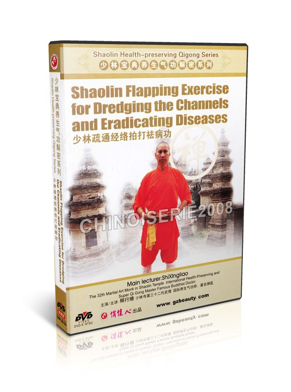 DW159-02 Shaolin Health Preserving Qigong Flapping Exercise For Dredging The Channels MP4