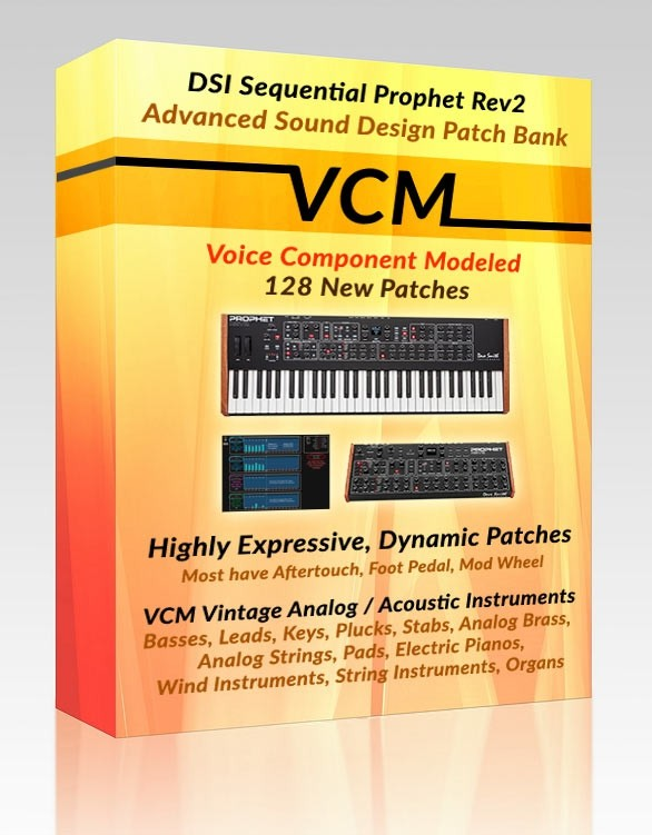 Prophet Rev2 Soundset - Voice Component Modeling (VCM) Patch Bank