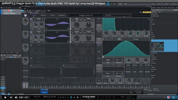 HARDSTYLE Dragon FX in Vital Audio Synth