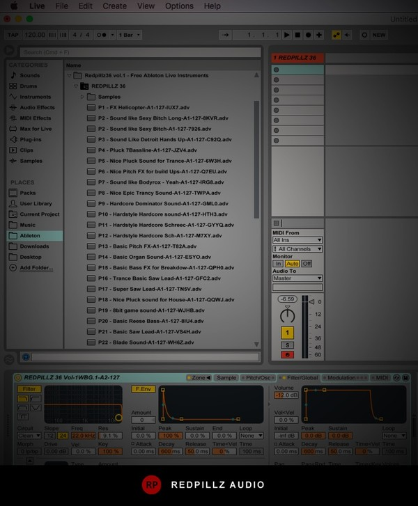 Redpillz36 vol.1 - Free Ableton Live Instruments