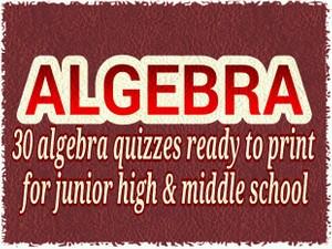 ALGEBRA : 30 tests