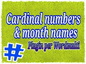 ORDINAL NUMBERS & MONTHS
