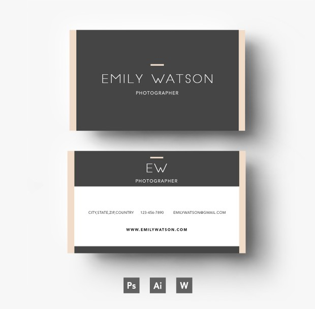 Creative and Professional Business Card Template/ Layered PSD File
