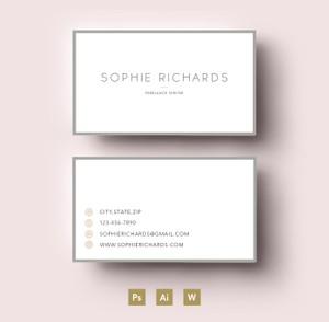 Easy editable PSD Business card