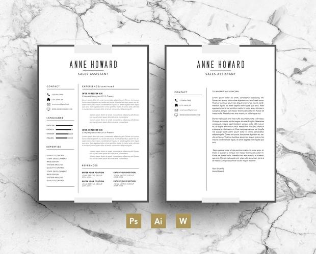 resume template modern cv template business card