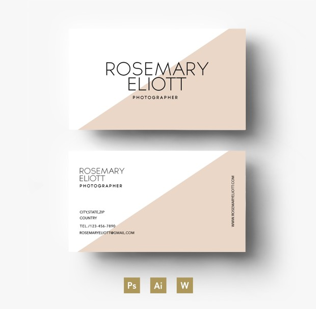 Professional business card template/ Layered PSD File
