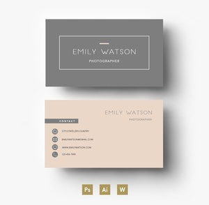 Professional Business Card PSD Template/ Editable PSD File
