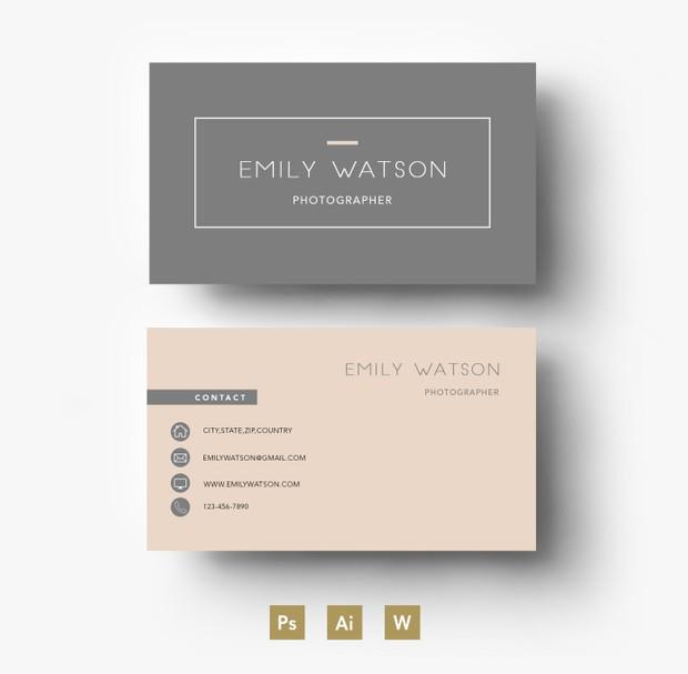 Professional Business Card PSD Template/ Editable PSD File