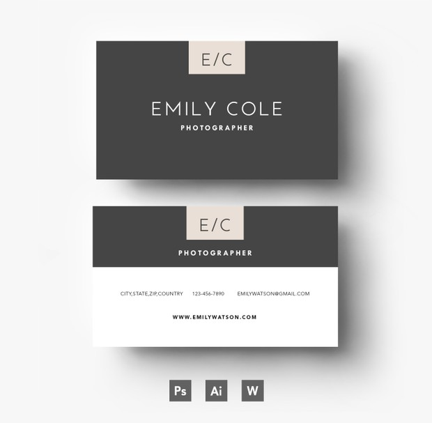 Easy Editable Business Card Template/ Layered PSD File