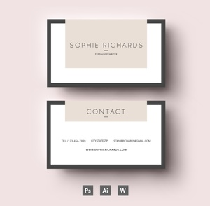 Editable Business Card Template/ Layered PSD File