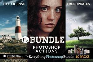 Pro Photoshop Actions Bundle - The Everything Photoshop Bundle by Presetrain Co.