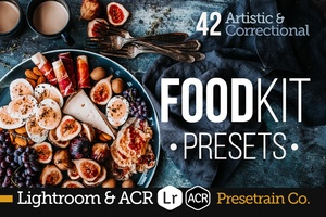 FoodKit - 42 Food Presets for Lightroom & Adobe Camera Raw