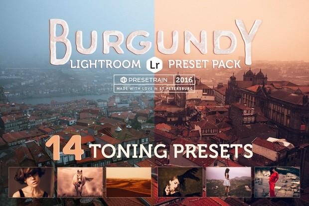 Burgundy Lightroom Preset Pack