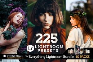 225 Lightroom Presets Bundle - The Everything Lightroom Bundle by Presetrain Co.