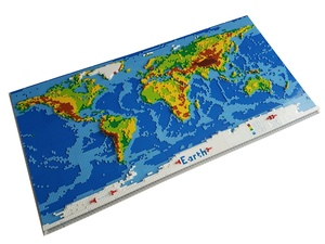 dirks LEGO world map - LDD-file, instructions, parts list