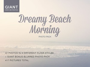 Giant Dreamy Beach Morning Photo Pack