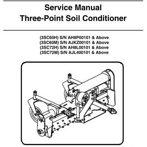 Bobcat Three-Point Soil Conditioner Workshop Repair Service Manual - 6987449