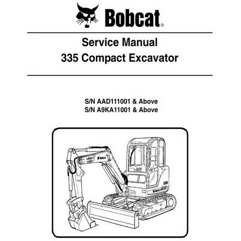 Bobcat 335 Compact Excavator Repair Service Manual - 6986949