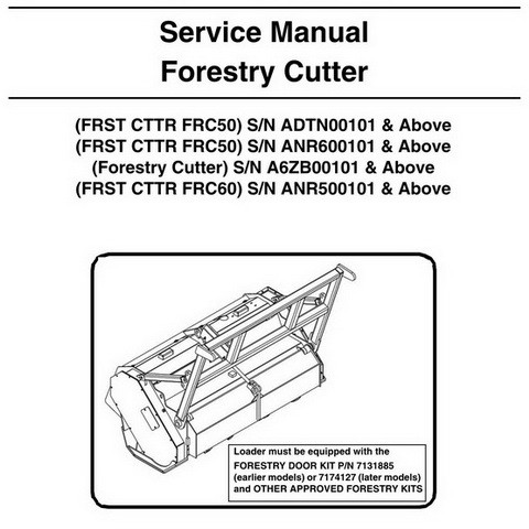 Bobcat FRC50-FRC60 Forestry Cutter Workshop Repair Service Manual - 6904962