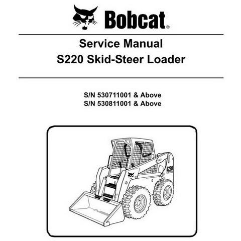 Bobcat S220 Skid-Steer Loader Repair Service Manual - 6904154
