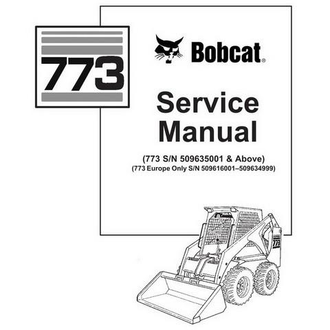 Bobcat 773 Skid-Steer Loader Repair Service Manual - 6900092