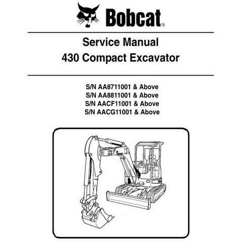 Bobcat 430 Compact Excavator Repair Service Manual - 6986955